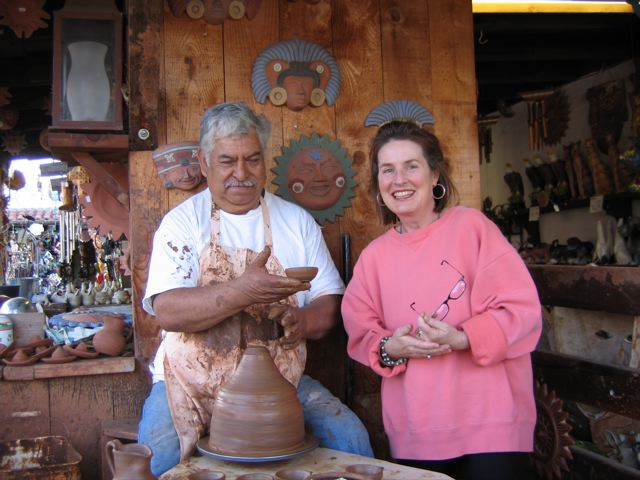 Meeting Urias in Mexico, 2007 - maker of evanhealy's clay bowls for the Clay Mask Kit. His sons and grandsons now work with him.