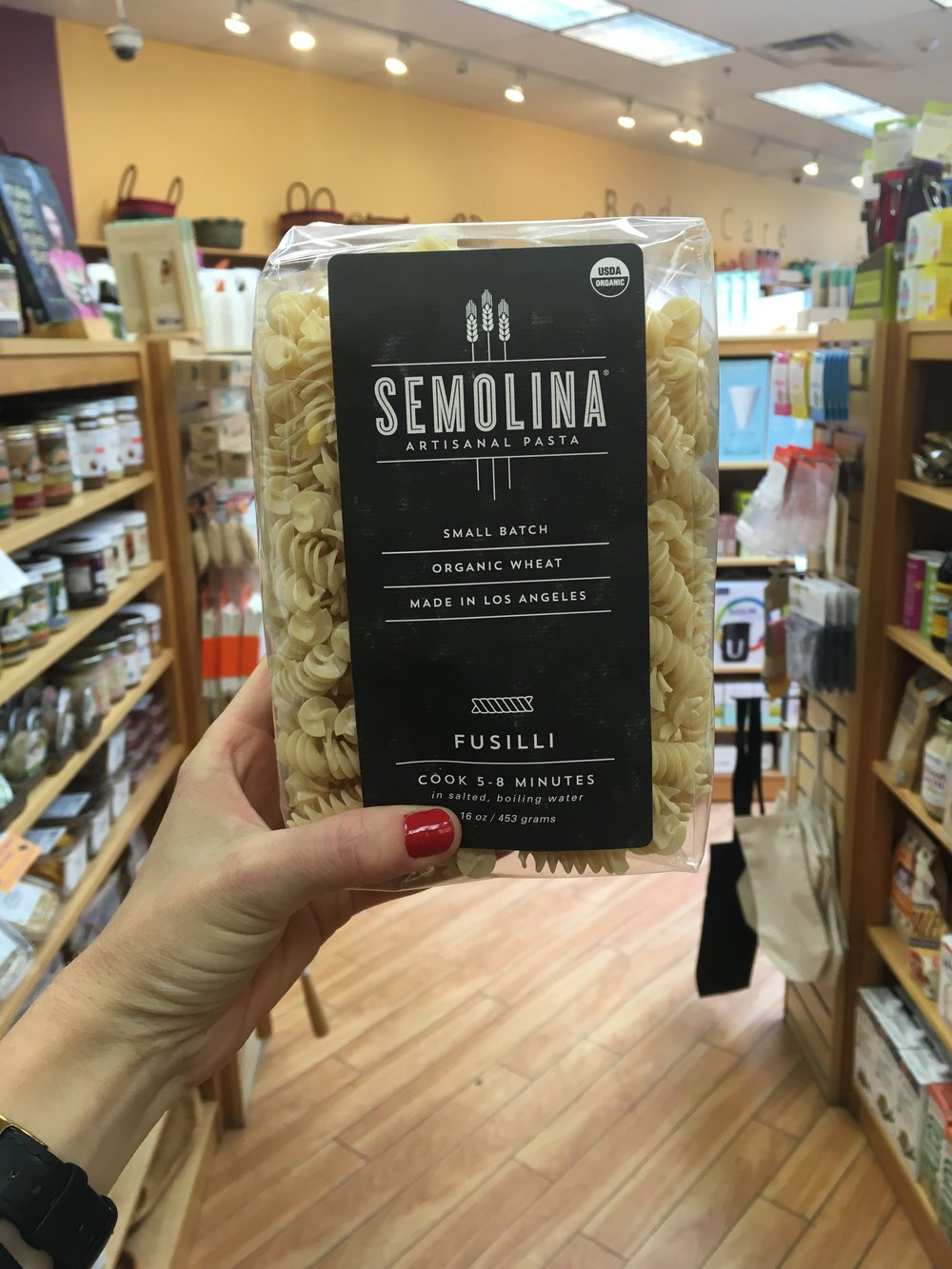 Some of our favorite pasta in the world is made by Semolina in Los Angeles! Use this or the delicious Jovial Gluten Free Penne in the two recipes, below.