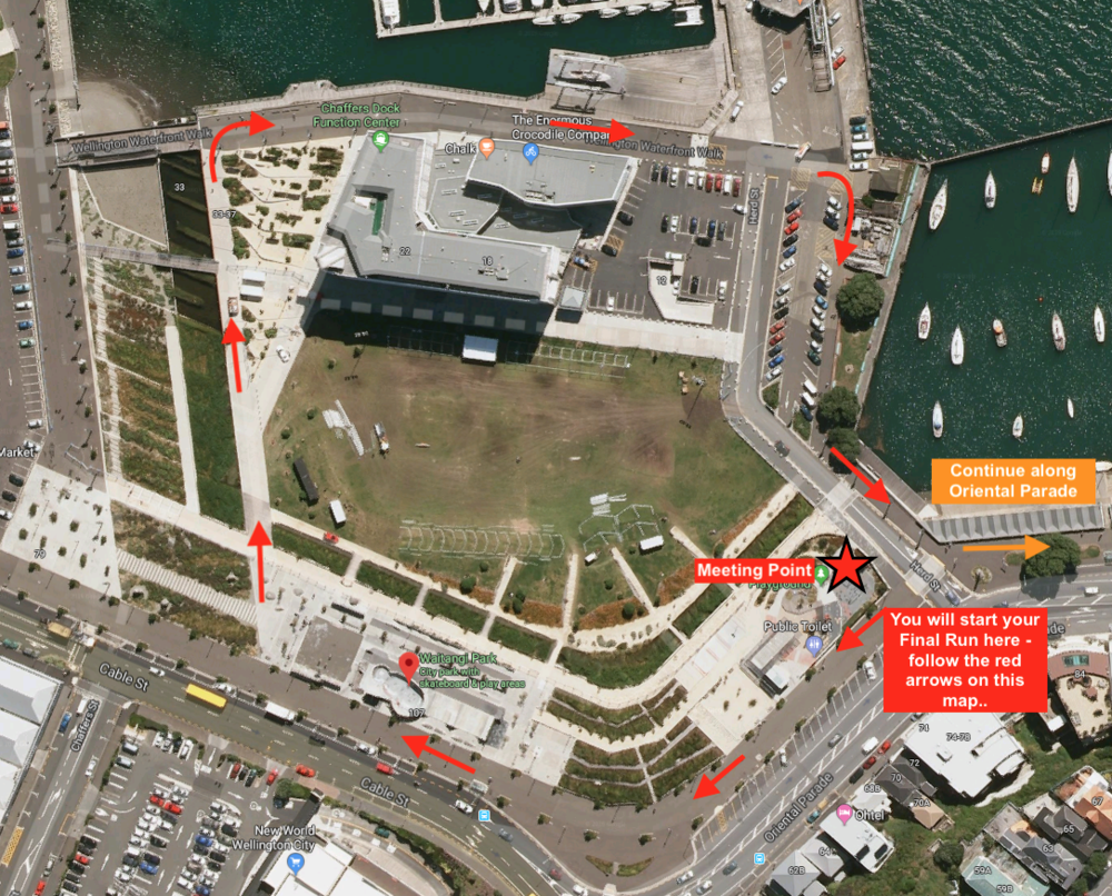 Meeting Point and Course Start Map