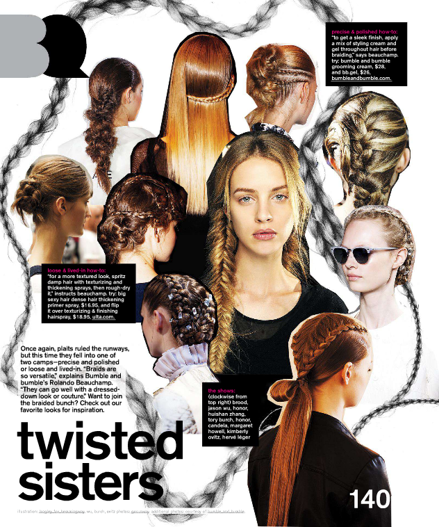 Braids Fashion collage