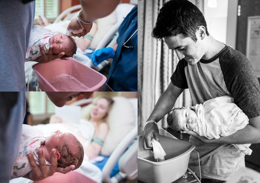 Denver-Birth-photographer-baby-bath