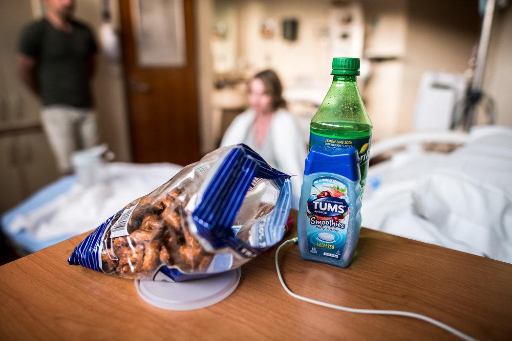 Snacks at hospital birth in Colorado Springs