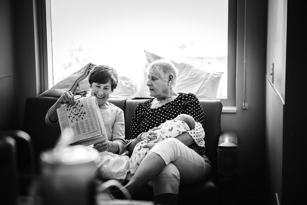 Grandmothers meet newborn- Monet Nicole