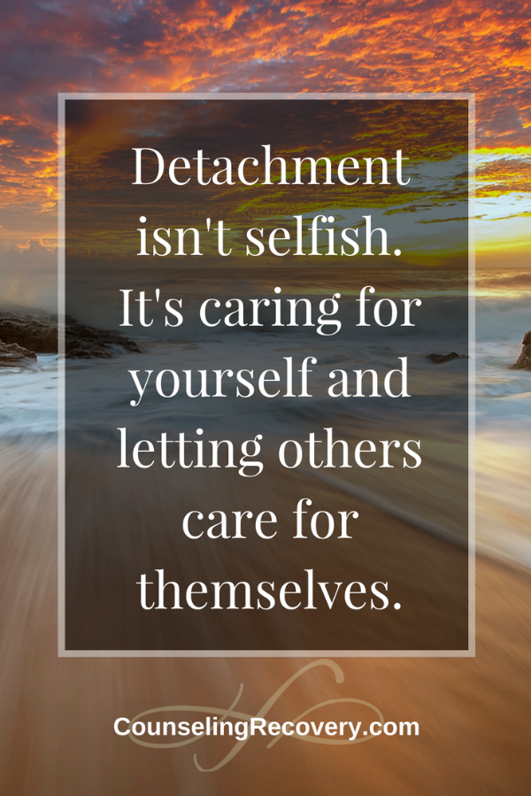 Detachment for self-care and preserving relationships