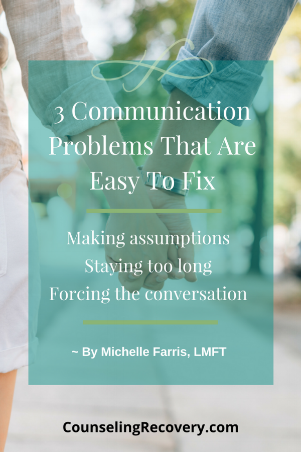 Communication problems that are easy to fix