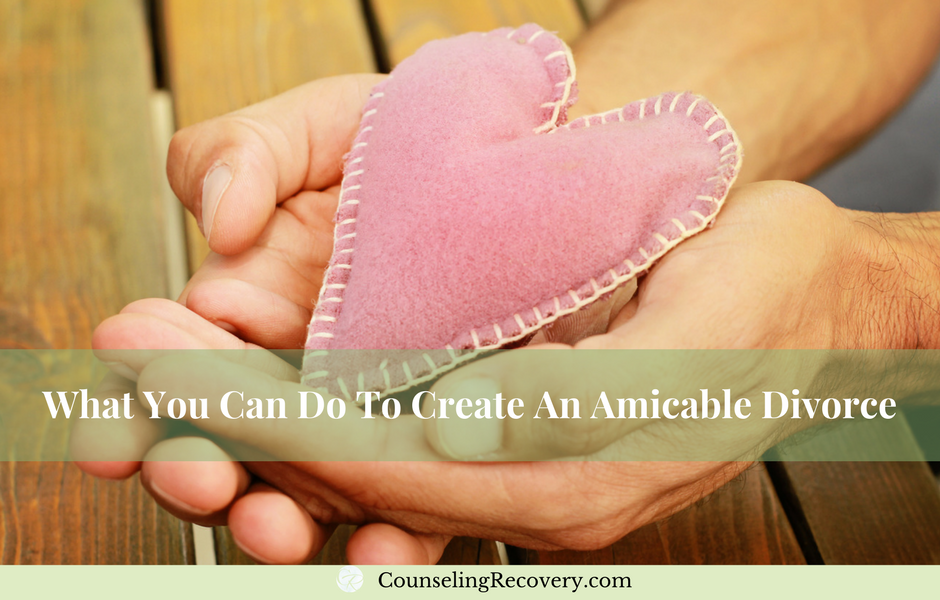 Creating an amicable divorce