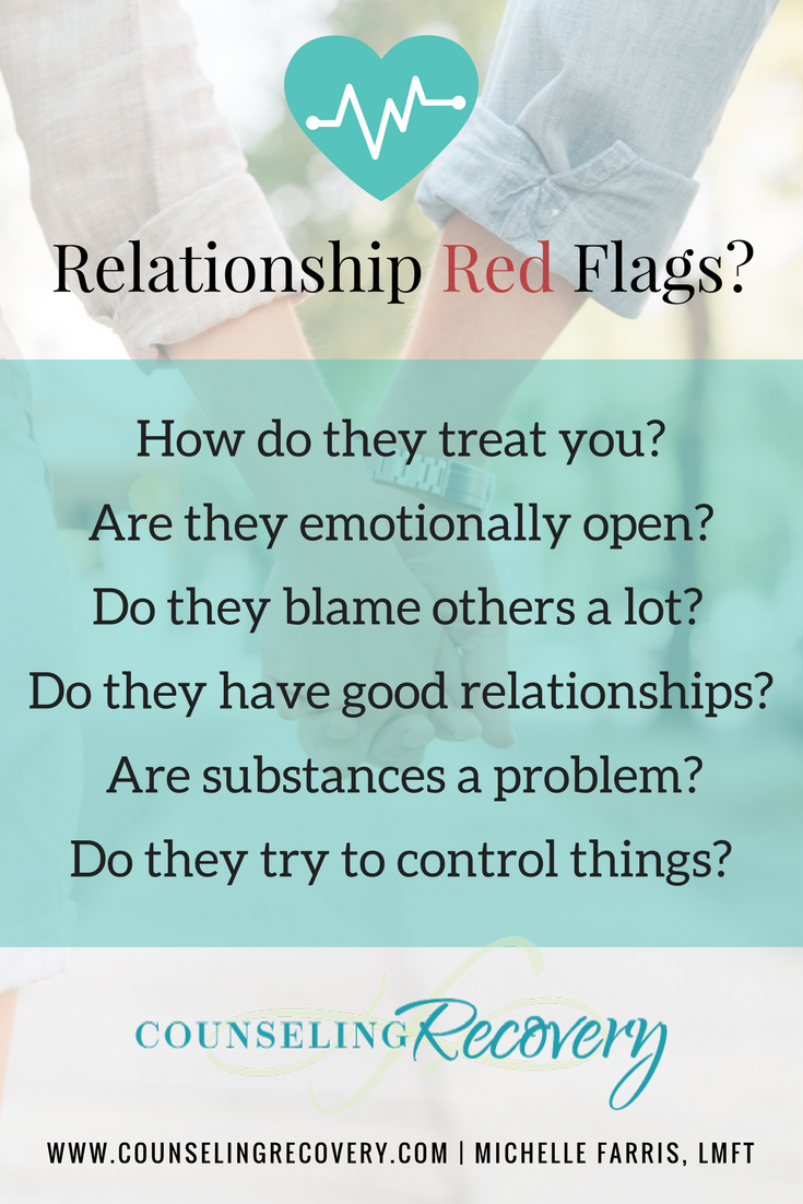 Identifying red flags in relationships
