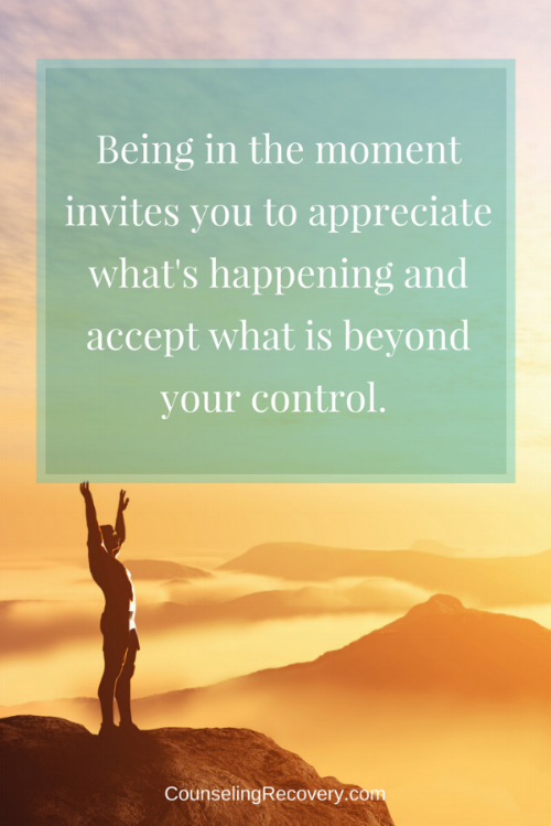 Learning to let go and practice acceptance