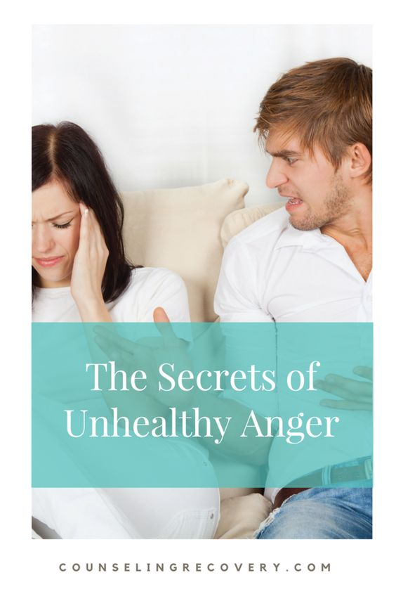 Secrets of unhealthy anger and resentment