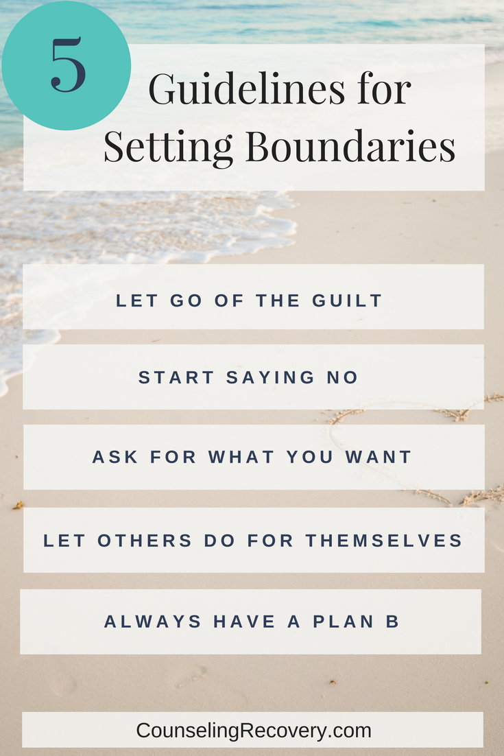 Tips for setting healthy boundaries