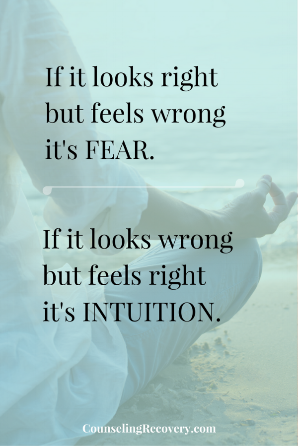 Trust yourself and intuition