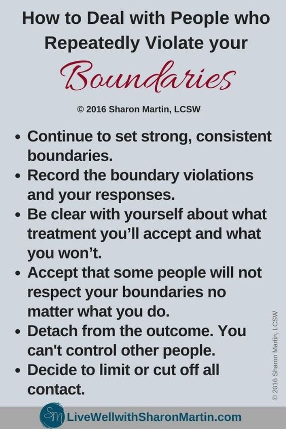 How to Deal with People who Violate Your Boundaries