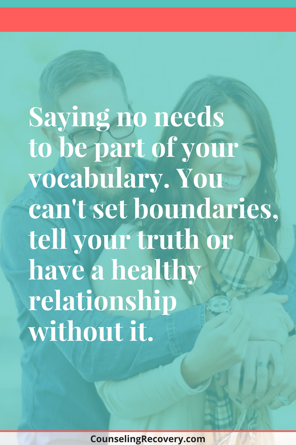 Saying no is a healthy boundary