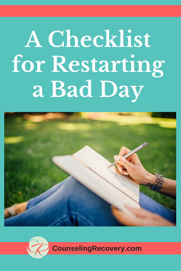 Checklist for having a bad day blog