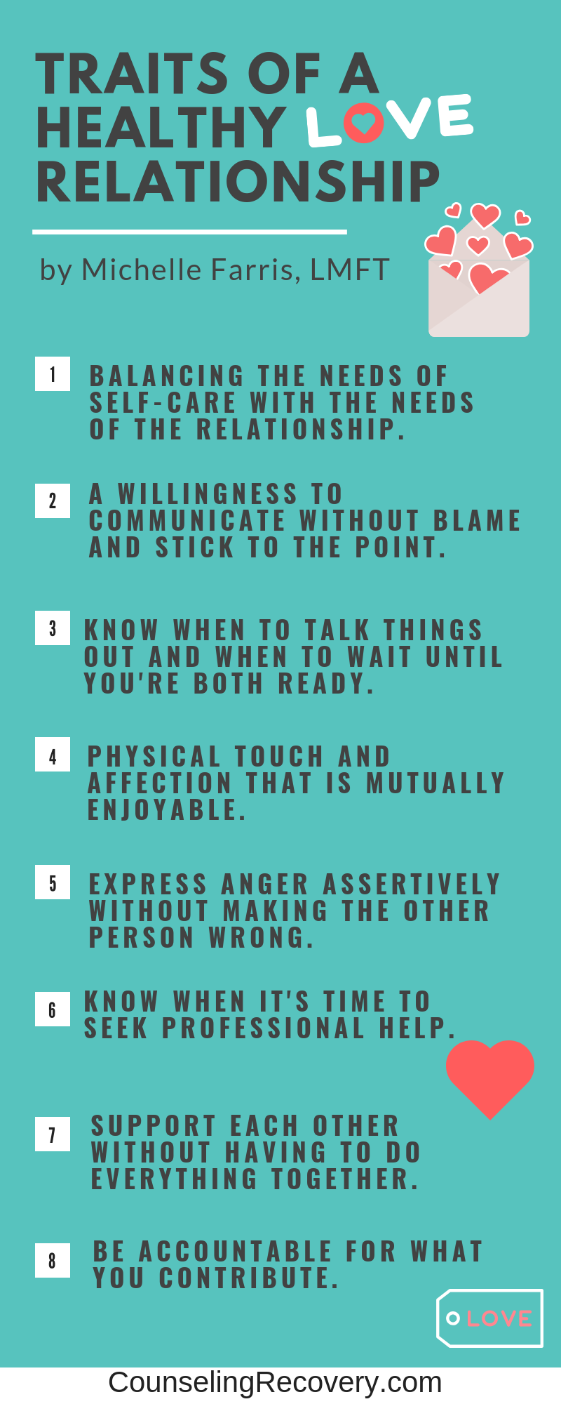 Traits of a healthy realtionship