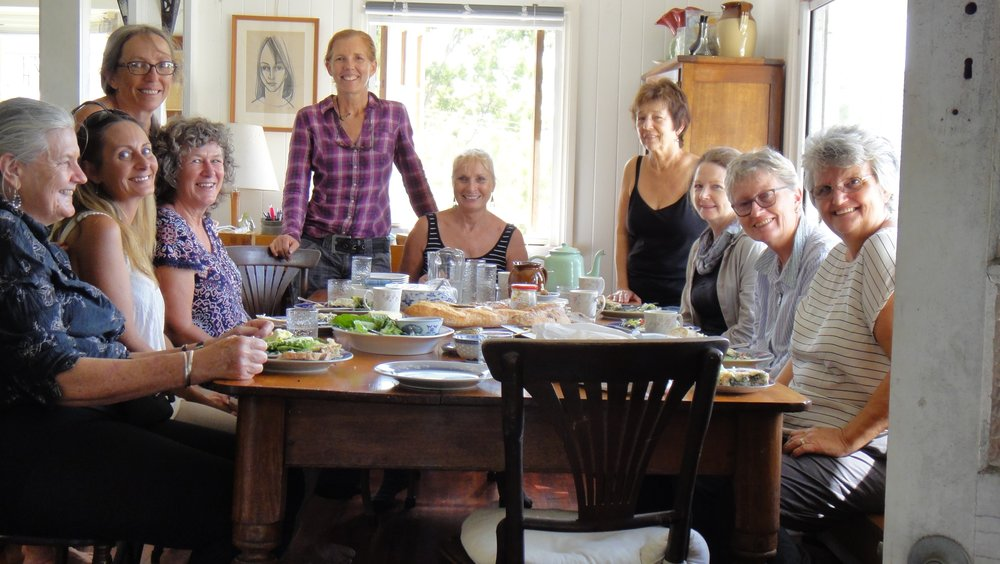 Lunch gathering at Anne Chanberlain's house, Lamb Island
