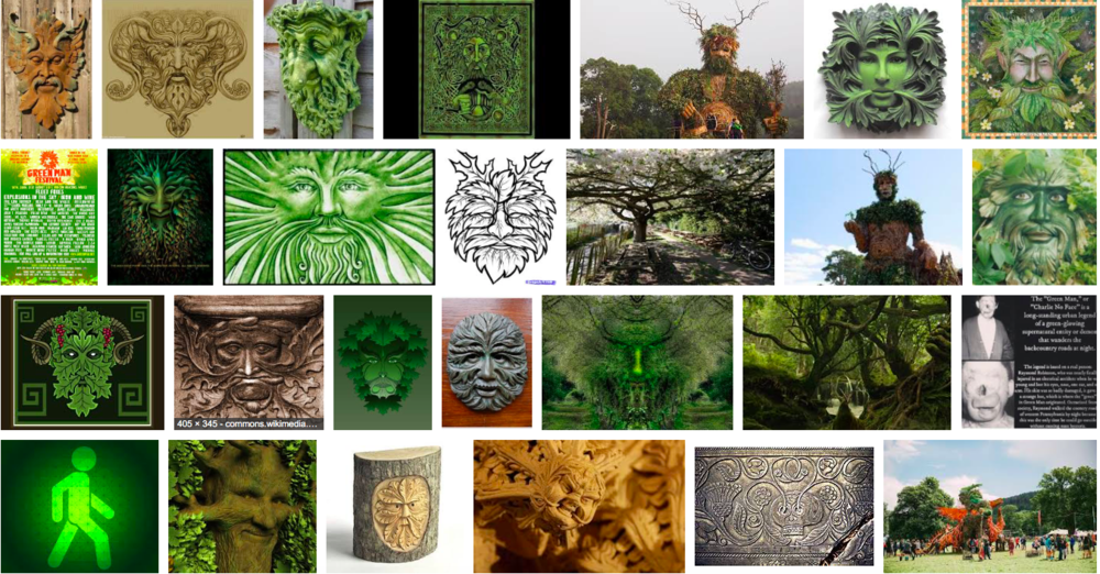 "screen grab Google image search ""green man'"