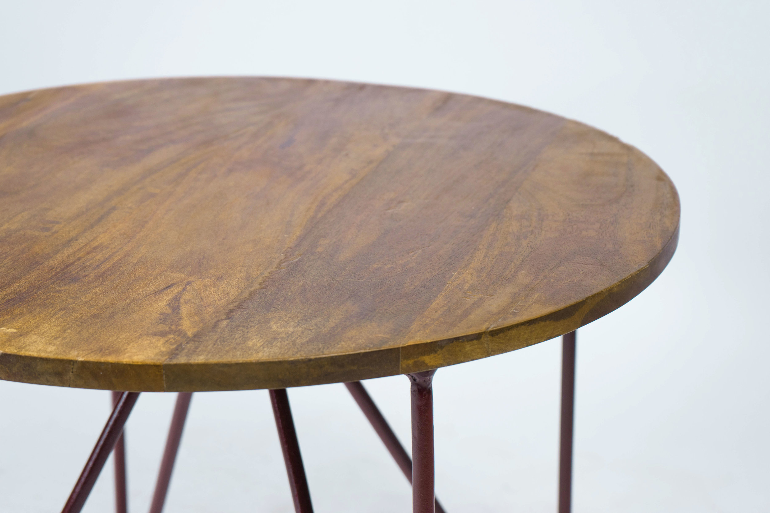 Industrial Mango Wood Side Table Monarch Mallard