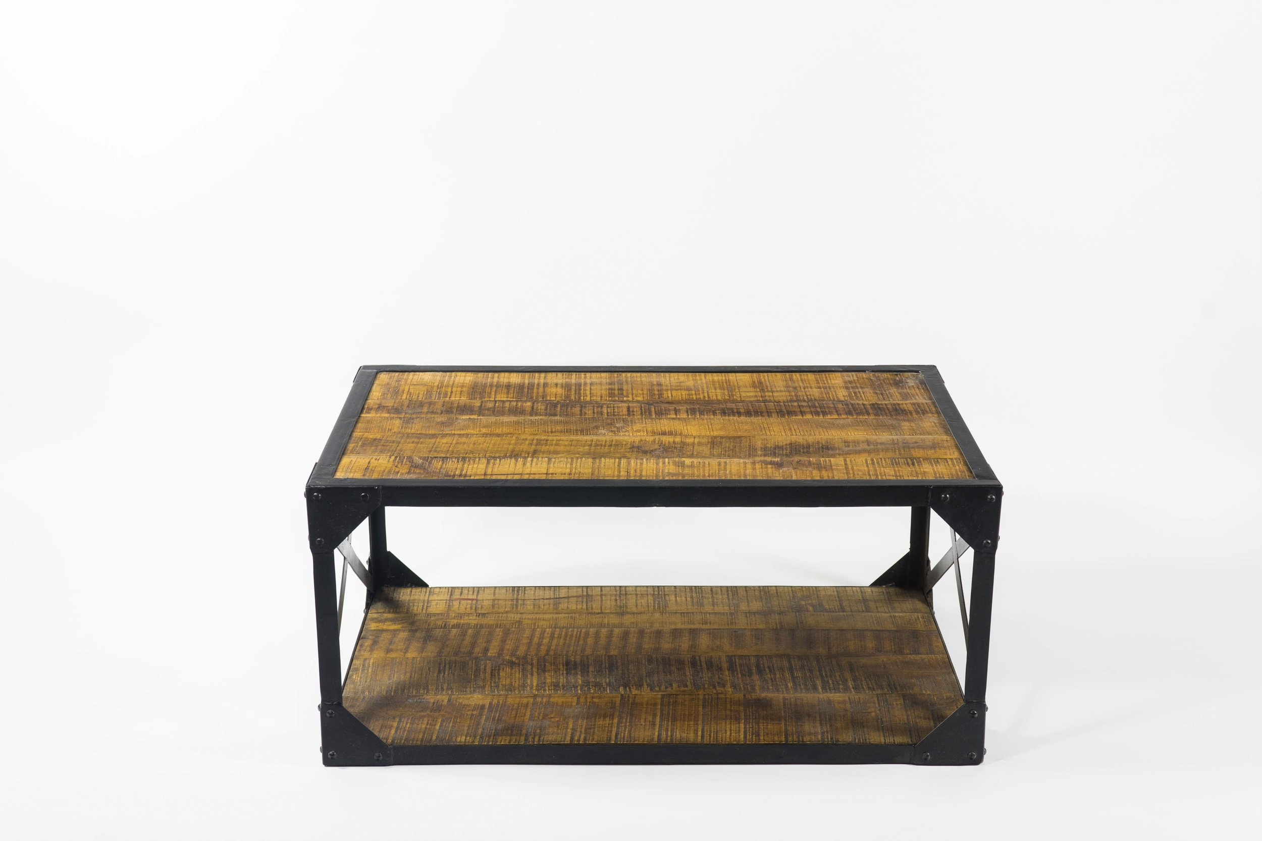 Stupendous Industrial Two Tiered Coffee Table Monarch Mallard Ocoug Best Dining Table And Chair Ideas Images Ocougorg