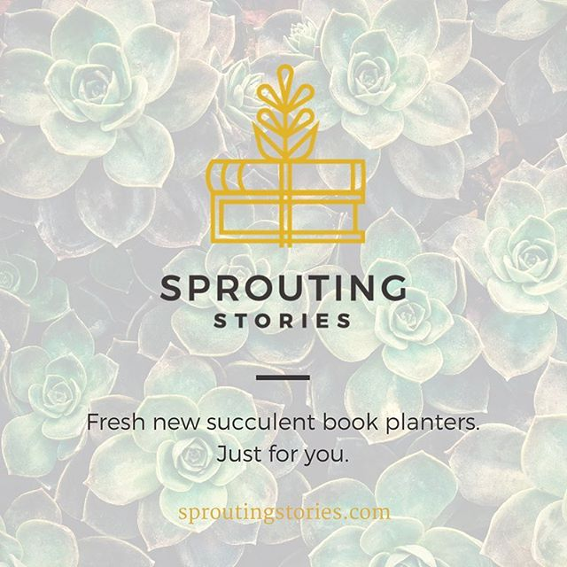 New season, fresh new books. Stop on by and spot our newest succulent book planters only at sproutingstories.com | ✌🏼📚🌱 #SproutingStories #TeacherLife #SpringIsInTheAir #YogaLifestyle #NewYou #BookPlanters
