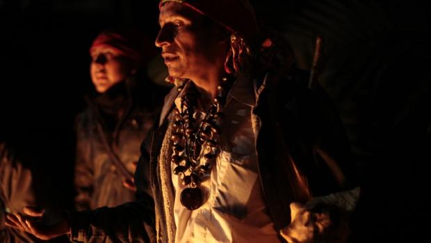 A shaman shamaning.