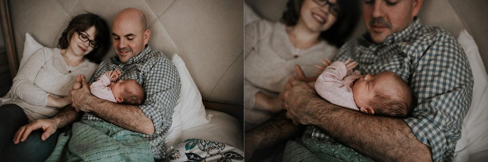 lifestyle newborn on bed
