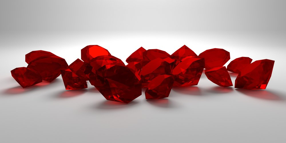 Cut rubies