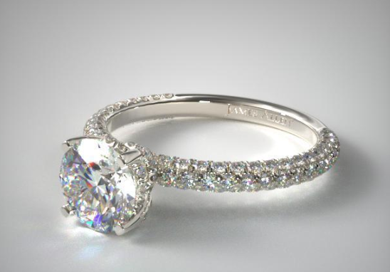 Diamond Pavé band.