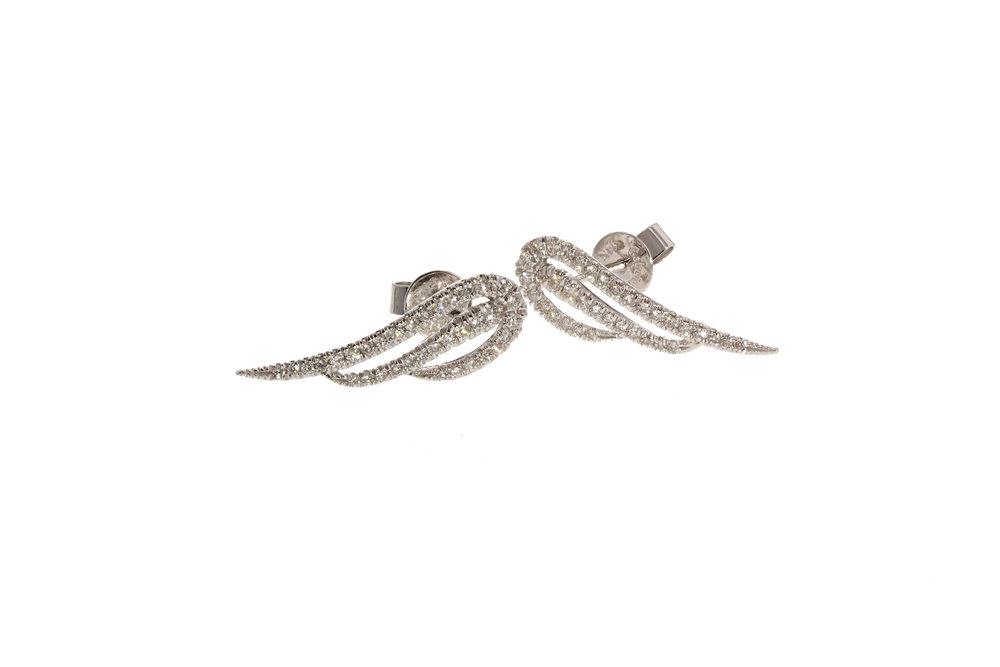 14k w/g Diamond Pavé wing earrings. $1818