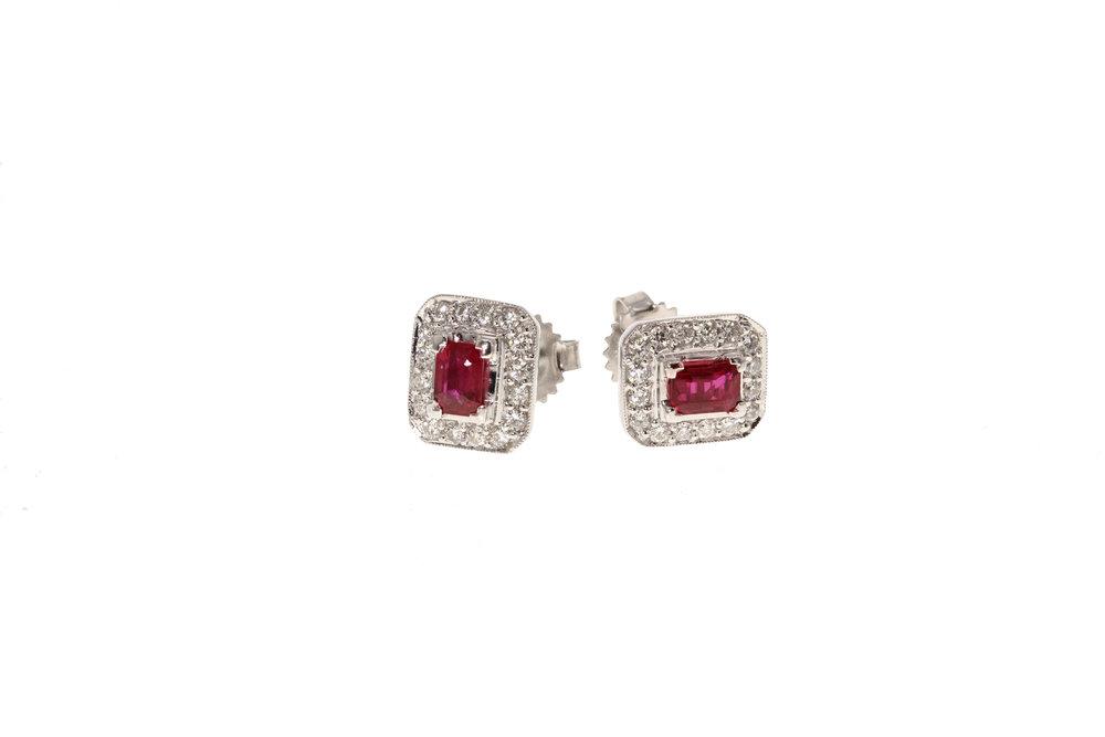 14k w/g Ruby & Diamond earrings. $1295