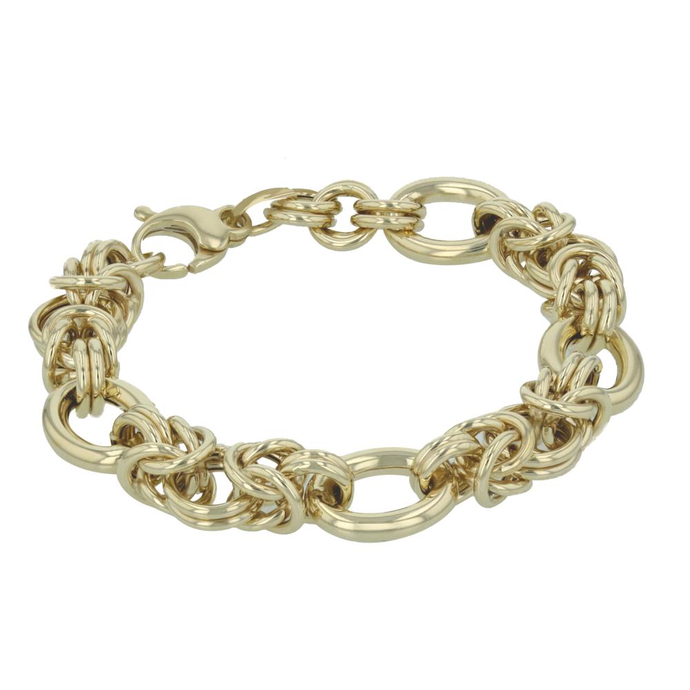 14k y/g Fancy Link bracelet. $1795