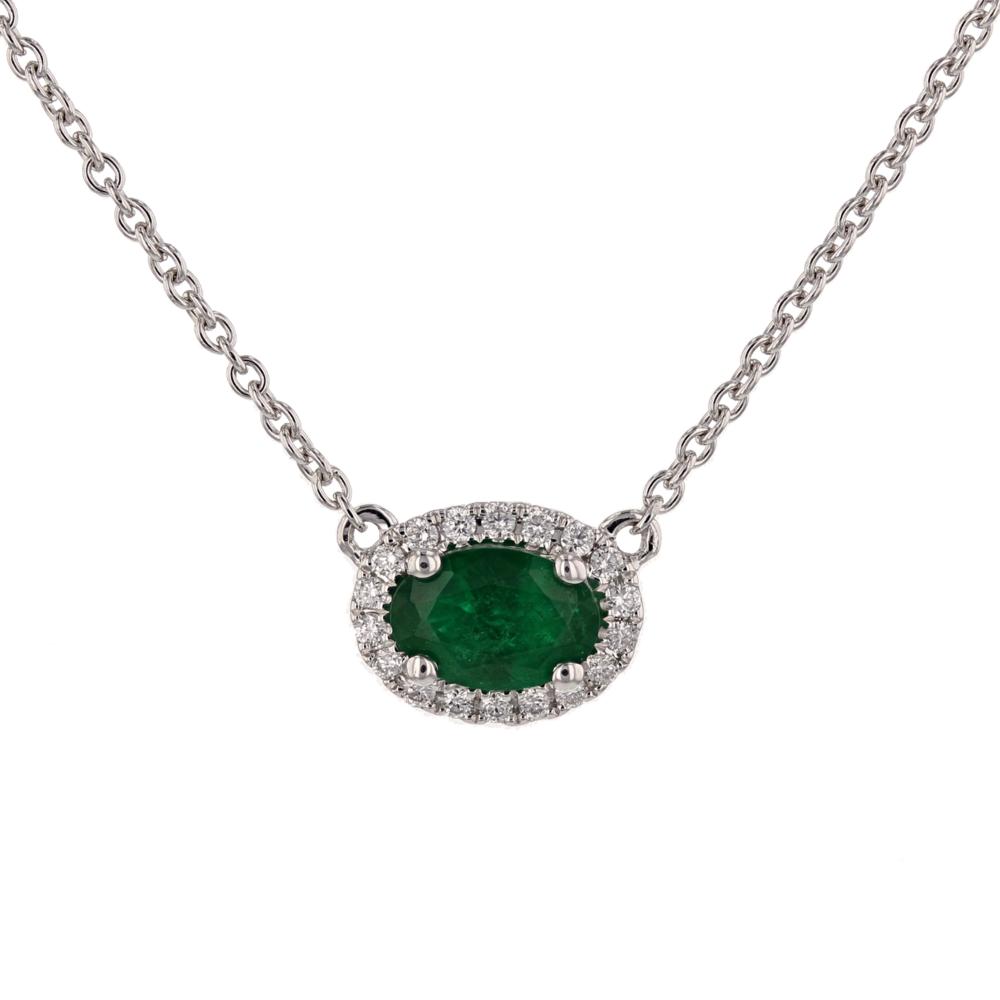 18k w/g Emerald and Diamond pdt. $2500