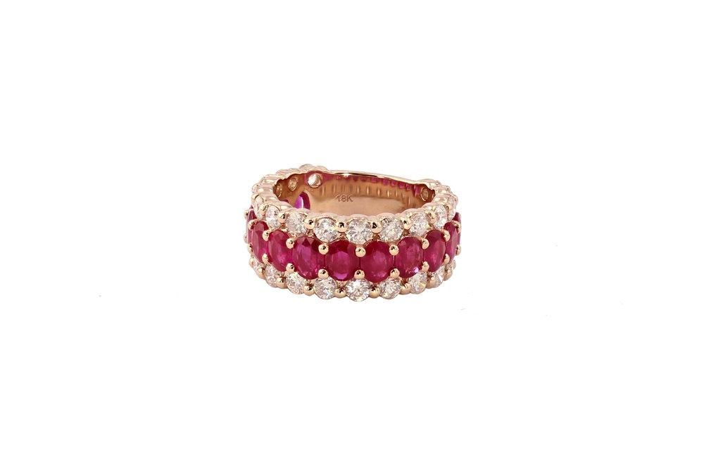 18k r/g Ruby & Diamond ring. $9500