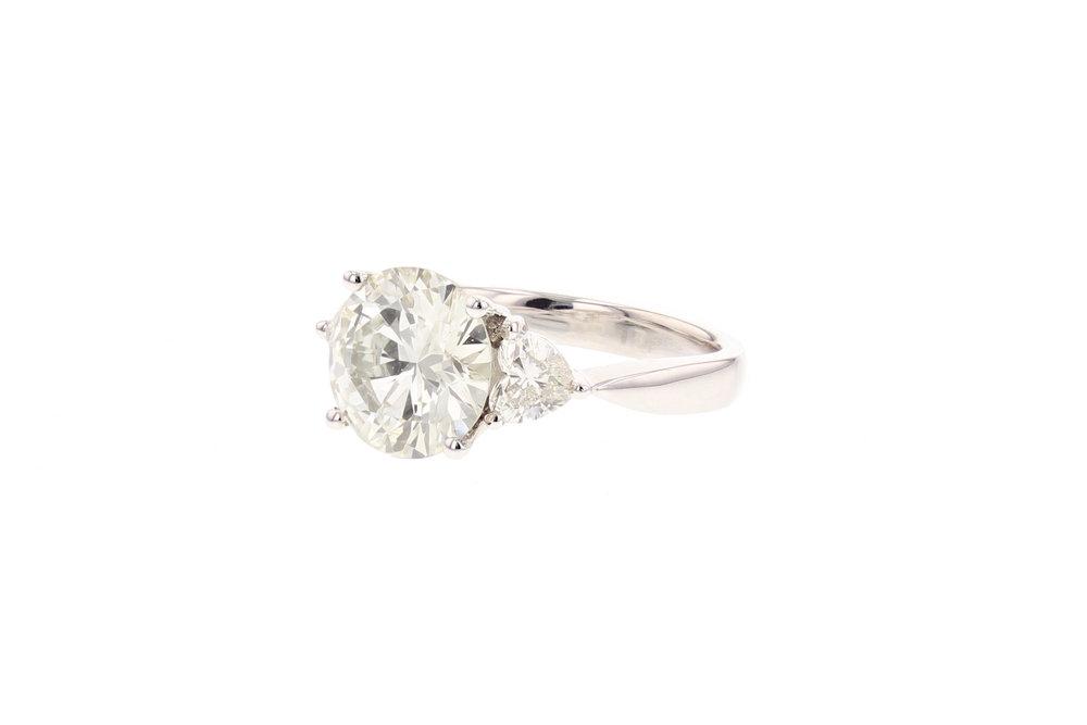 3.65 ctw. Diamond ring. $28,465