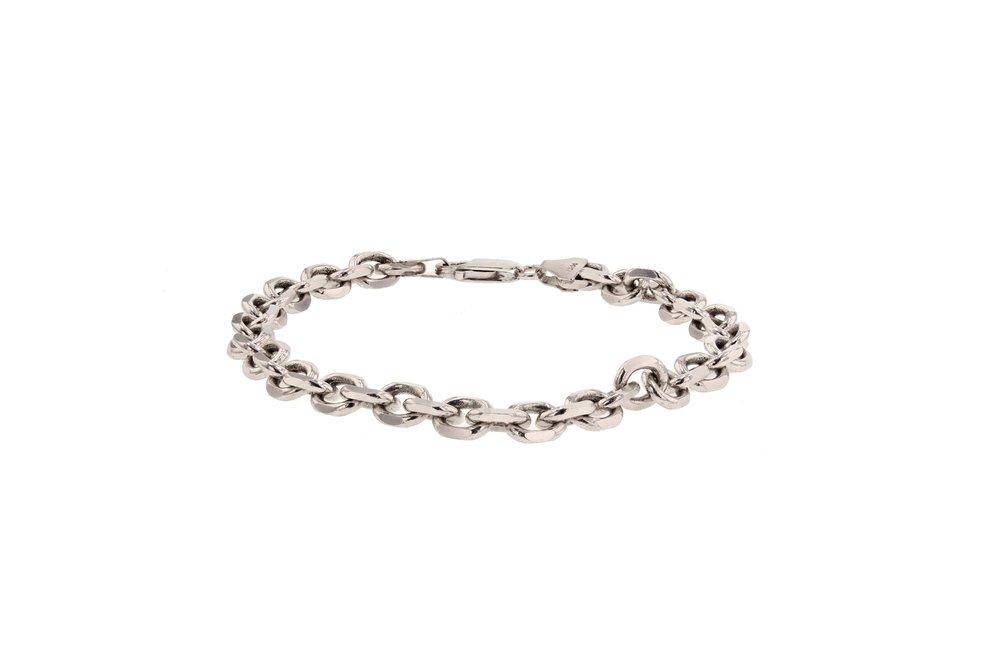 Gent's 14k w/g solid link bracelet. $3360