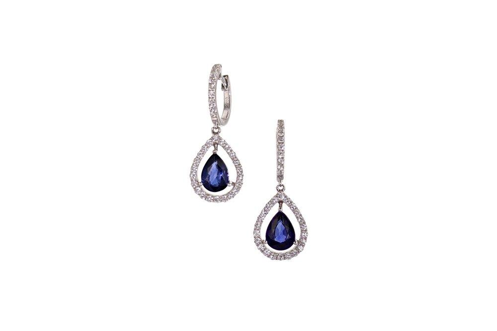 14 w/g Sapphire & Diamond earrings. $9590