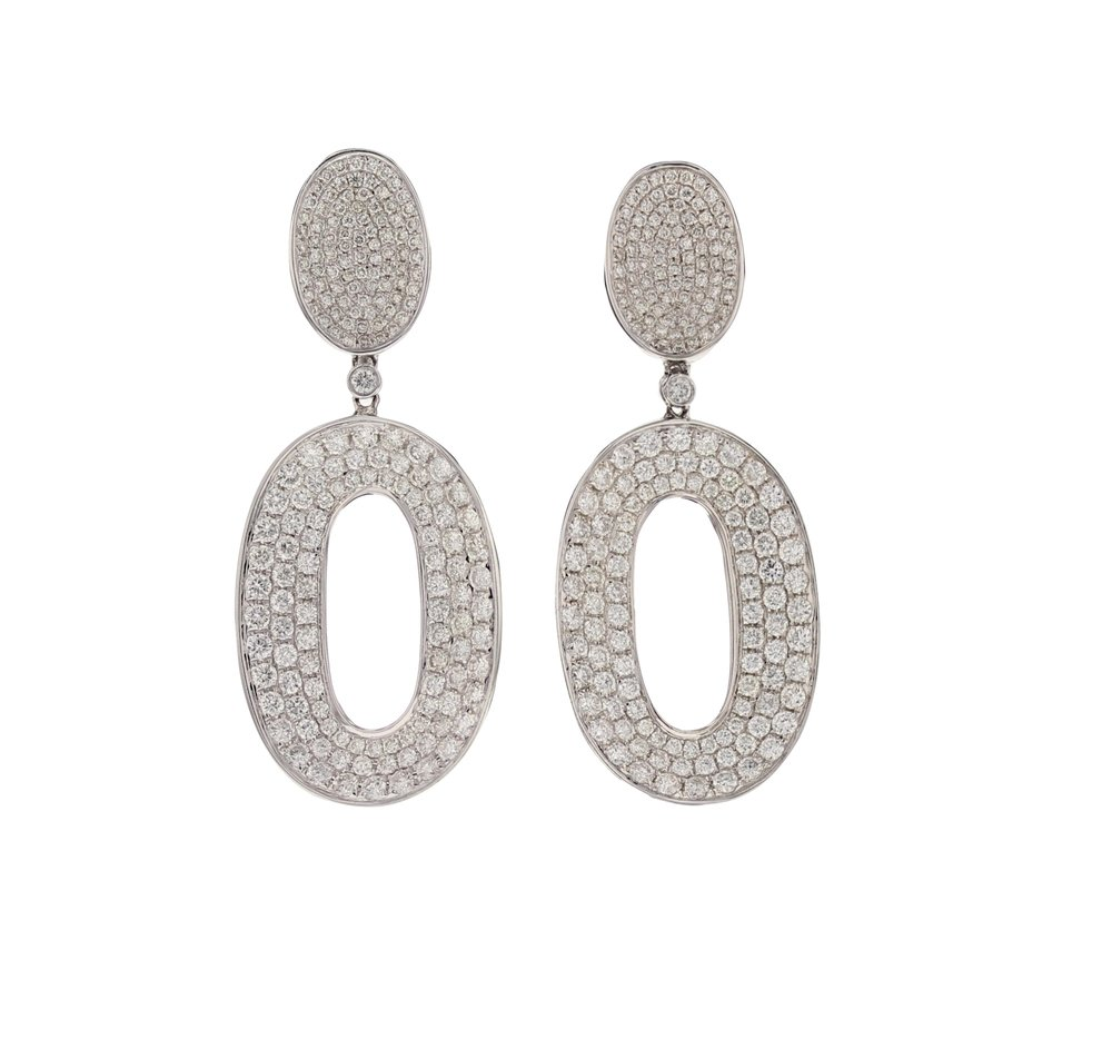 3.5 ctw. Diamond Pavé earrings. $15,700