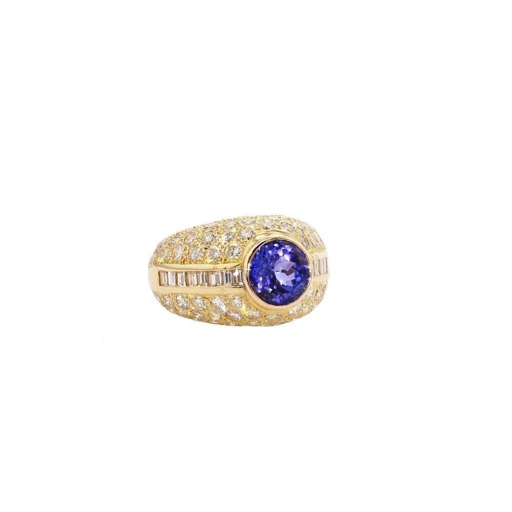 Tanzanite & Diamond ring. $33,000