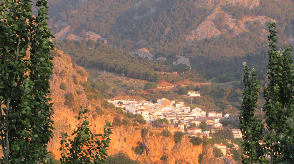 The village of Grazalema at sunrise