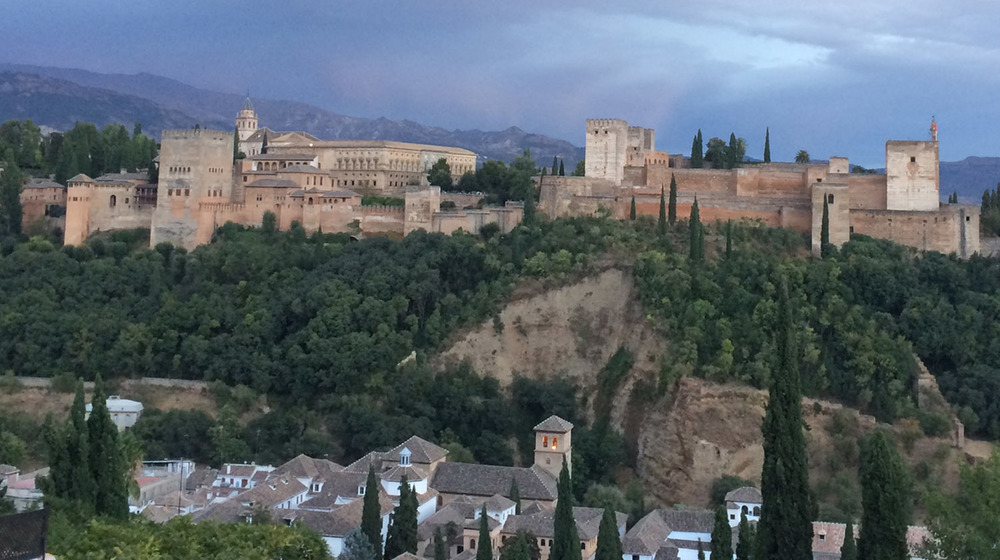 The Alhambra from San Nicholas at Sunset