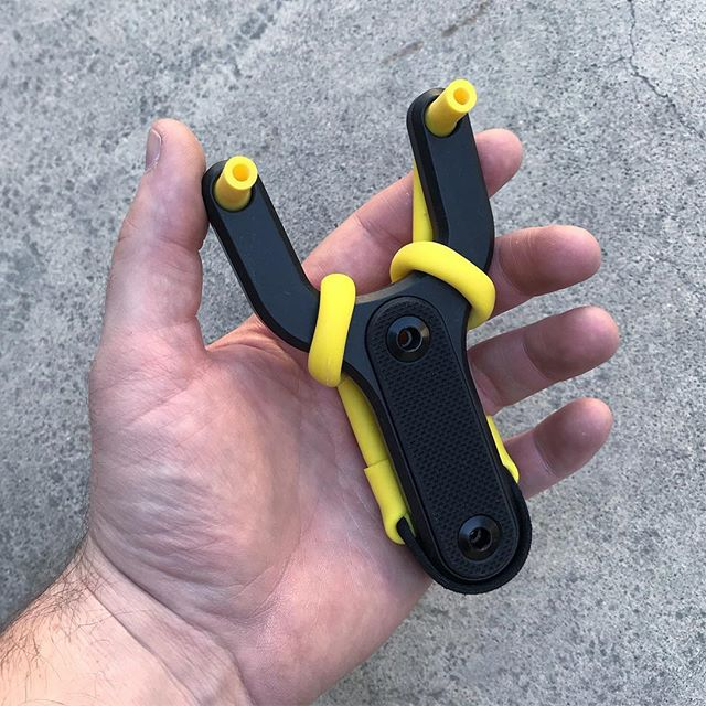 After recently hearing Trumark Slingshots closed up shop I had to find a new supplier of bands/pouches. These yellow ones from Daisy so far have been dialed. I have a handful of the red/orange Trumark RR-T bands still so if anyone wants or needs them let me know. I'll most likely keep a few in stock since they're next to impossible to get now, but once they're gone, they're gone. 🐝  __________  #madeincalifornia #californiamade #californiaadventure #california #campvibes #camping #campinggear #silence #zodiaceng #instamachinist #daisy #slingshot #igmilitia #igmilitiaca