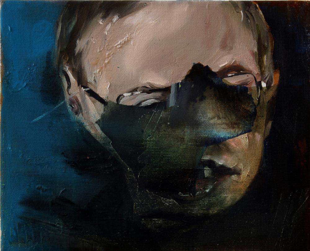 STEPHEN, 2014    20,5x25,5cm, ulei pe pânză