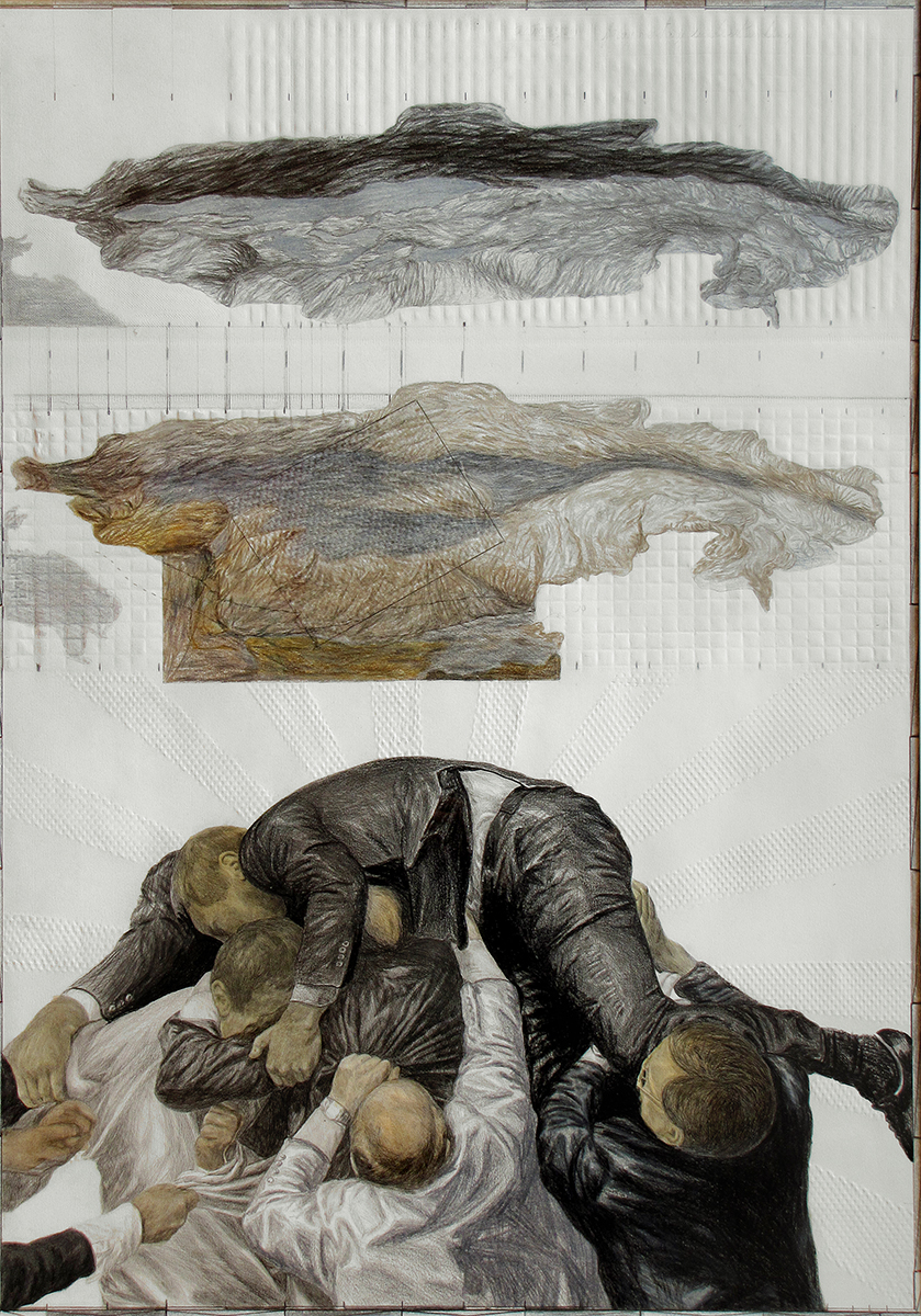 2Stefan UNGUREANU, Battle for Anthropocene 3, 2011,  drawing mixed tehnique, 70x 100 cm.jpg