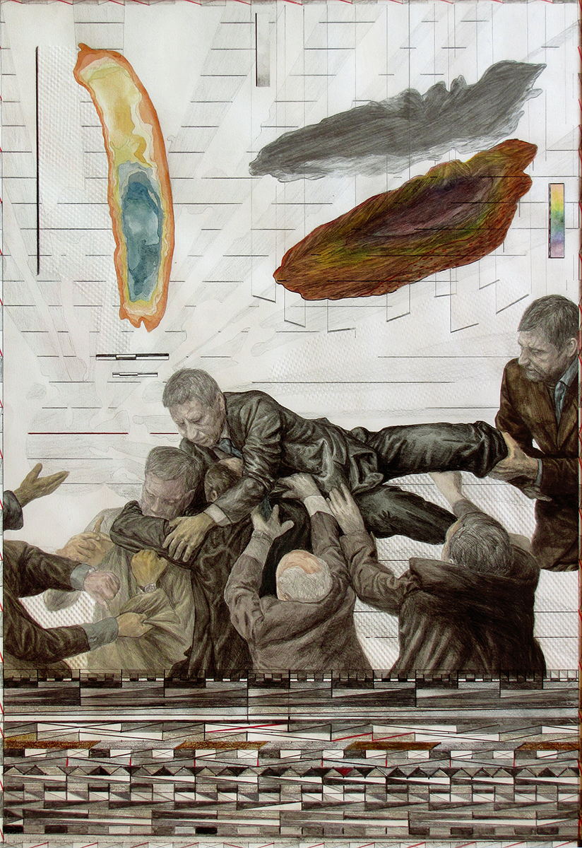 4Stefan UNGUREANU, Battle for Anthropocene 4, 2011,  drawing mixed tehnique, 70x 100 cm.jpg