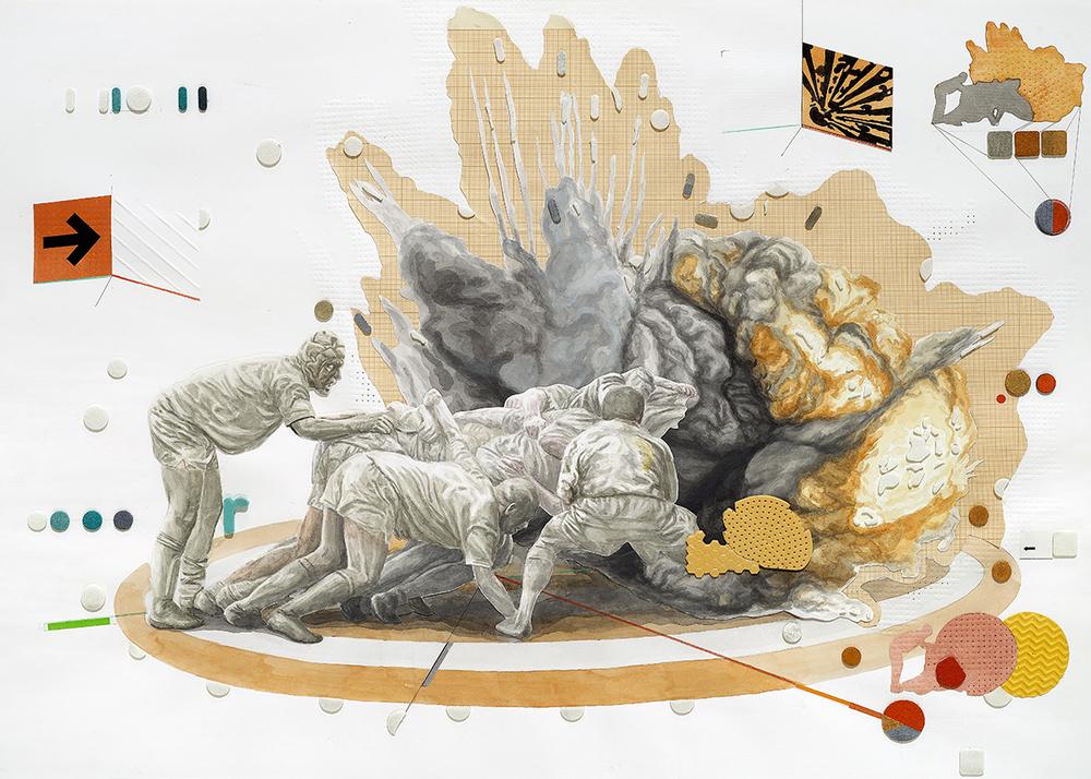 2Stefan-Ungureanu--70x100-cm-mixed-tehnique-Explosion-1 2011.jpg