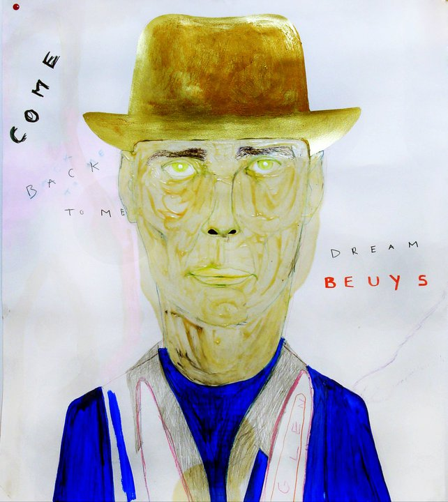 """DREAM BEUYS"", tehnică mixtă, 110x110cm, 2009"