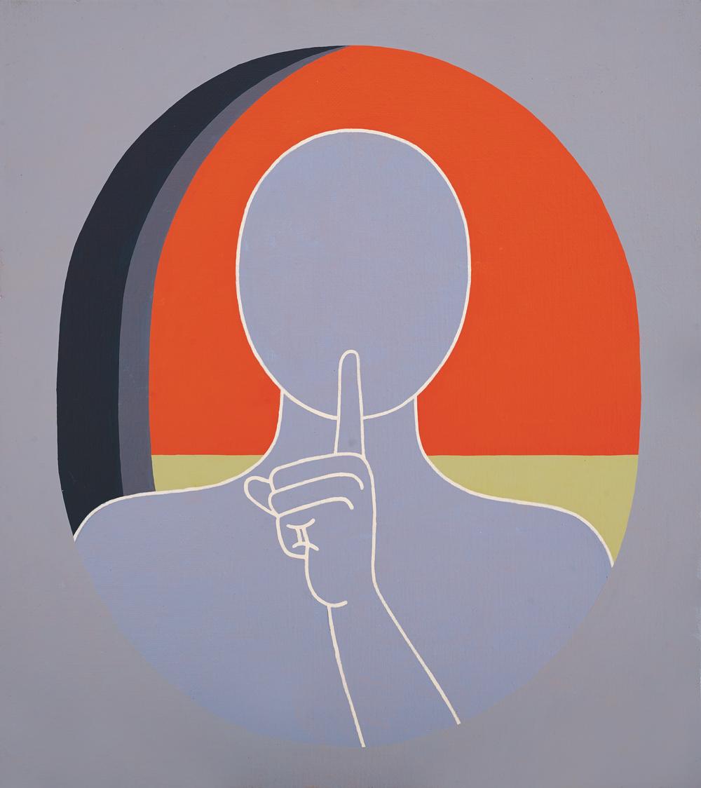 Personaj cu masca, 2013, 70x60 cm, acrilic pe panza