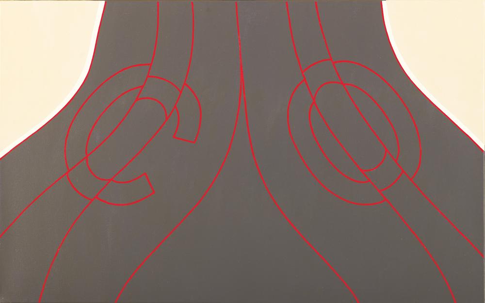 Consoana si vocala, 2007, acrilic pe panza, 50x80 cm