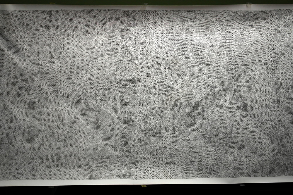 Clipa, 700x100 cm, tușpe hârtie, 90 x 65 cm (detaliu)