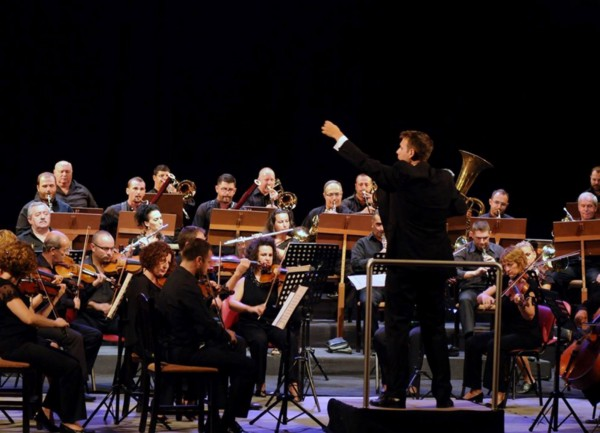 In concert with the National Albanian Orchestra (Tirana, Albania 2014)